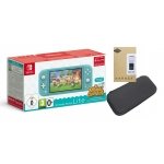 KONSOLA NINTENDO SWITCH LITE + ANIMAL CROSSING + ETUI + SZKŁO