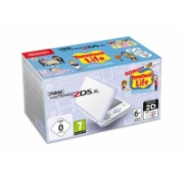 NEW NINTENDO 2DS XL WHITE&LEVANDER +TOMODACHI