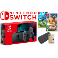 KONSOLA NINTENDO SWITCH + 2 GRY + ETUI  [NOWY MODEL]
